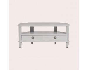 Henshaw Pale Steel 2 Drawer Corner Tv Unit