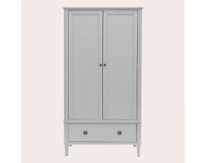 Henshaw Pale Steel 2 Door 1 Drawer Wardrobe