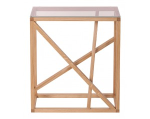1x1 GlassTrestle Console Table