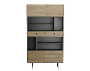 Korgen Oak Large Bookcase