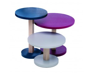 Primo Set of 3 Pedestal Tables By Another Brand