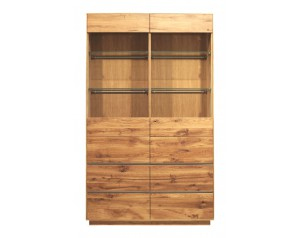 Fargo Oak Double Display Unit