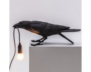 Bird Lamp Playing Black
