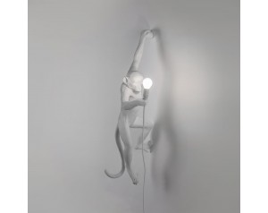 Monkey Lamp Hanging Left White