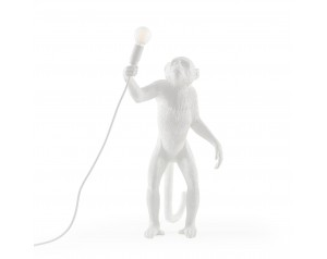 Monkey Lamp Standing White