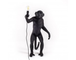 Monkey Lamp Standing Black