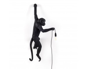 Monkey Lamp Hanging Left Black