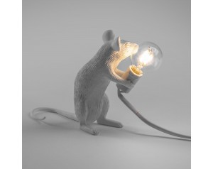 Mouse Lamp Sitting White