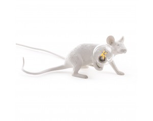 Mouse Lamp Lie Down White