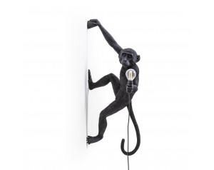 Monkey Lamp Hanging Right Black