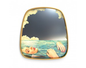 Mirror Gold Frame Sea Girl