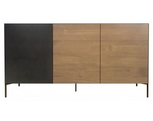 Ortello oak 3 door sideboard