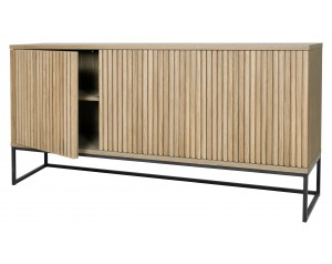 Timo 3 Door Sideboard With Slatted Front
