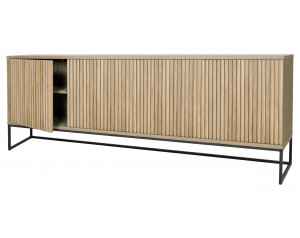 Timo 4 Door Sideboard With Slatted Front